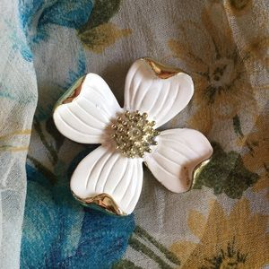 Vintage Dogwood Blossom Pin by Gerry's